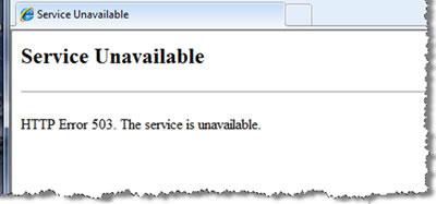 503状态码:防止网页被删除